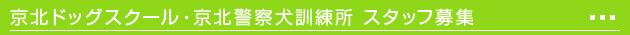 京北ドッグスクールスタッフ募集